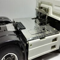 For 1/14 Tamiya 56325 Man RC Tractor Truck Model Stainless Steel Chassis Plate