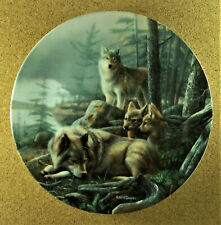 Silent Watch Plate Call of the Wilderness Kevin Daniel Wolves Wolf & Pup #3