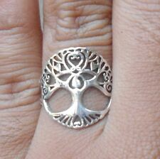 925 Sterling Silver-WY40-Bali Hand Made Ring Filigree Tree Of Life Size 7