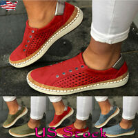 Women Shoes Comfy Breathable Slip On Sneakers Ladies Summer Casual Loafers New