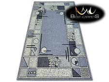 "MODERN DESIGNS & CHEAP BCF RUGS ""BASE"" frame geometric grey Best-Carpets"