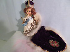 Ginny Coronation Queen tagged 1953 Painted Lash Strung Ex lashes and pink cheeks