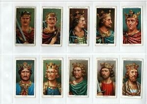 1930's PLAYERS CIGARETTE CARDS KINGS & QUEENS of ENGLAND - FULL SET 50 VG