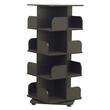 Hartwick 4 Tier Revolving Bookcase Tower Display Unit with 16 Shelves, Wood, ...