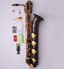 Professional TaiShan Black Nickel Eb Baritone Saxophone Sax Free ALL Accessories