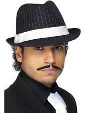 1920s Gangster Fancy Dress Trilby Hat Deluxe Striped by Smiffys