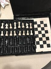 Vintage complete marble chess set