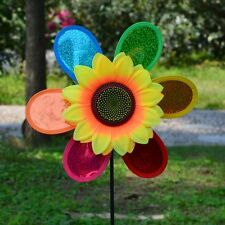 Colorful Sequins Sunflower Windmill Wind Spinner Yard Garden Decoration Xmas