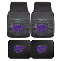 Kansas State University 2pc & 4pc Mat Sets-Heavy Duty-Cars,Trucks,SUVs
