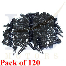 120Pcs 9mm Hole Plastic Rivets Fastener Push Clips Clip for Car Auto Fender