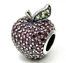 Authentic Pandora RED PAVE APPLE CHARM W/ Pandora TAG & HINGEBOX #791485CFR