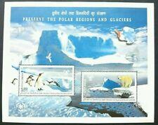 India Preserve The Polar Regions & Glaciers 2009 Penguin Bear Bird Snow (ms) MNH