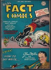REAL FACT COMICS #9 DC 08/47 GLENN MILLER INDY 500 SKY WRITERS LOST SECRET+  VF-