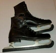 Vintage Men's Black Ice Skates - Made in Canada