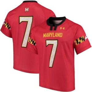 Maryland Terrapins Lacrosse Jersey NEW Under Armour Terps Red M L XL 2XL 3XL