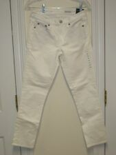 WOMENS GAP 1969 BEST GIRLFRIEND SOLID WHITE MID RISE STRETCH JEANS 28 X 27 NWT