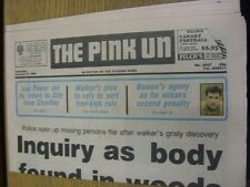 02/01/1993 Norwich Pink Un: Main Headline Reads: City Clash Frozen Out - Norwich
