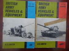 Ian Allan British Army Vehicles & Equipment Parts1& 2 Armour / Artillery 1964