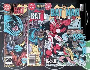 Batman #384-385, 387 (1984) VF+ DC Comics Jason Todd Calendar Man Black Mask