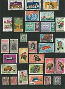 GRENADA & GRENADINES. SG215-7 MNH. Plus Others Mint & G to F Used. 30 stamps.