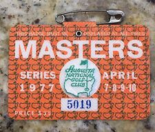 1977 MASTERS GOLF AUGUSTA NATIONAL BADGE TICKET TOM WATSON WINS RARE PGA VINTAGE