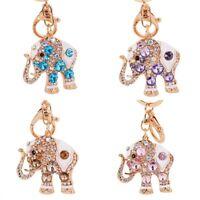 Elephant Keychain Rhinestone Fashion Crystal Keyring Key Ring Chain Bag Pendant
