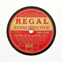 """THE HILL BILLIES """"Christmas Out On The Prairie"""" (E+) REGAL ZONOPHONE [78 RPM]"""
