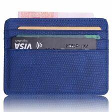 Men Women Travel Id Card Holder Wallet Case Lizard Pattern Leather Bank Business