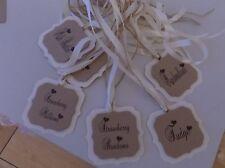 6 x  Personalised Candy Bar Buffet/Wedding/Anniversary/Birthday Sweet Jar Tags