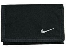 Nike Black Tri Fold Black Wallet Unisex Official Swoosh Zip Purse