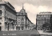 Cartolina Genova Via XX Settembre animata