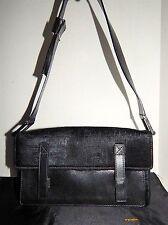 Fendi Black FF Calf Hair Leather Shoulder Bag Italy