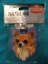 Long Haired Chihuahua Luggage Tag, by Westport, for backpack, gym bag-US SELLER