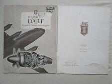PLAQUETTE ROLLS-ROYCE DART PROPELLER TURBINE AERO ENGINES 1955 7TH EDITION