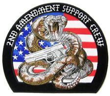 EMBROIDERED 2ND AMENDMENT RATTLESNAKE W PISTOL PATCH P9173 4 INCH  jacket biker