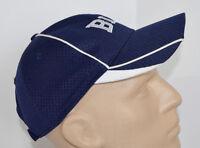 BLA Augusta Sportswear Hat Blue & White Mesh Baseball Ball Cap Lid Work Golf Adj
