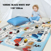 Large Play Mat City Road Buildings Parking Map Game Scene Map Educational Toys
