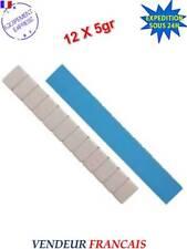 Lot de 100 Barrettes de Plombs Adhésifs Equilibrage Roue Jante Alu 12x5gr