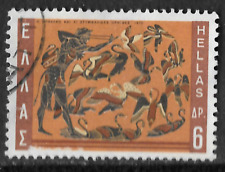 collectible from Greece - 6 Hellas stamp featuring artistic ancient birds