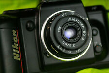 Industar-50-2 50mm 3.5 Pancake Camera Lens - M42 + Adapter for Nikon N469