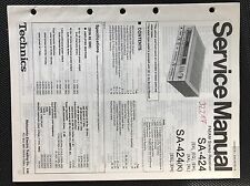 Original Technics Model Sa-424 Stereo Receiver Service Manual