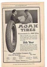 1916 Ajax Tires - Ajax Rubber Company Inc. New York Advertisement