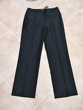 LARRY LEVINE - BNWT - WOMENS CHARCOAL STRETCH SMART TROUSERS - 12/14