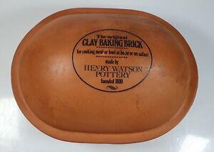 Original Clay Baking Brick Henry Watson Pottery Wattisfieldware Made in England