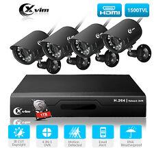 XVIM  8CH 1080N DVR Outdoor Security CCTV System Night Vision Camera 1TB HDD UK