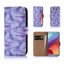32nd Floral Design Book PU Leather Wallet Case Cover for LG PHONES LG G6 Iris Birds