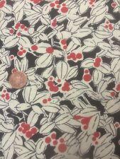 Antique Treasures 100% Cotton fabric Quilting craft Floral Black Cream Red