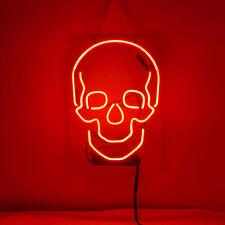 """New Skull Bar Pub Logo Neon Light Sign 14"""""""