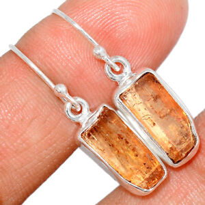 Imperial Topaz From Brazil 925 Sterling Silver Earring Jewelry BE31105