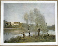 Corot Ville d'Avray Vintage 1st Edition 1960s Lithograph